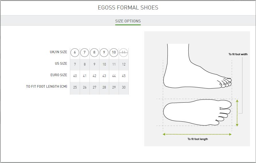 Egoss Size Guideline