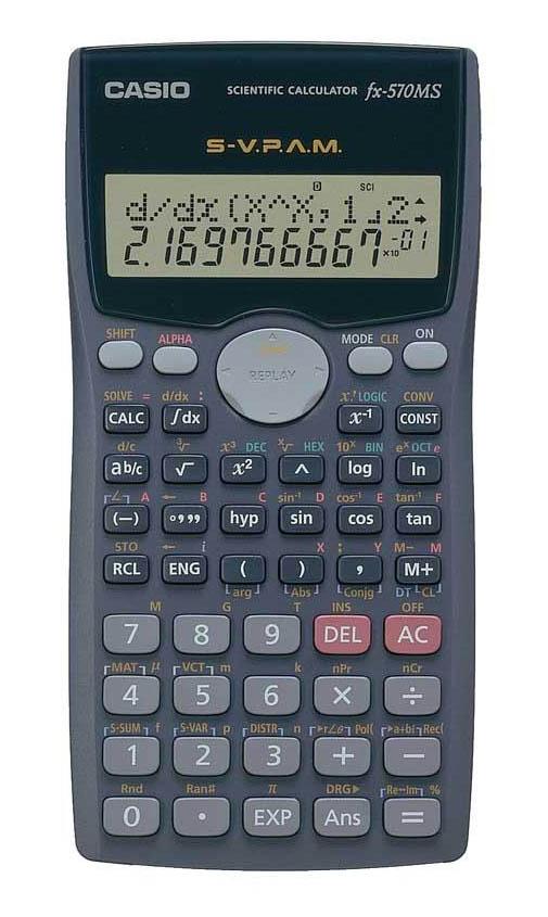 New casio fx-570ms 2-line display 401 functions matrix scientific.