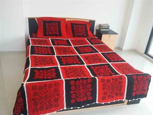 Picture of Applique Bed Cover-code BS-11
