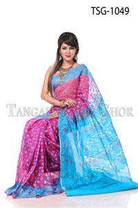 Picture of Moslin Jamdani Saree - TSG-1049