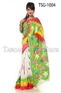 Picture of Hand Print Cotton Saree - TSG-1004