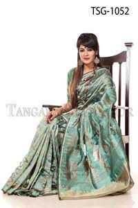 Picture of Moslin Jamdani Saree - TSG-1052