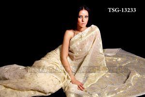Picture of Moslin Jamdani Saree - TSG - 13233