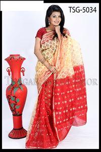 Picture of Moslin Jamdani Saree - TSG - 5034