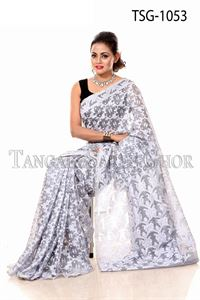 Picture of Moslin Jamdani Saree - TSG-1053