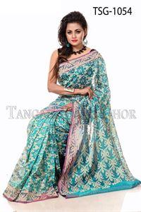 Picture of Moslin Jamdani Saree - TSG-1054