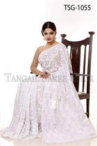 Picture of Moslin Jamdani Saree - TSG-1055