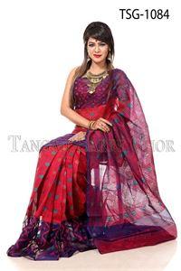 Picture of Moslin Jamdani Saree - TSG-1084