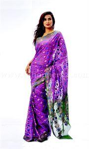 Picture of Moslin Jamdani Saree - TSG-6341