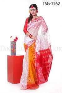 Picture of Moslin Jamdani Saree - TSG-1262