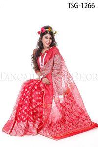 Picture of Moslin Jamdani Saree - TSG-1266