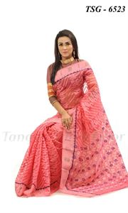 Picture of Moslin Jamdani Saree - TSG-6523