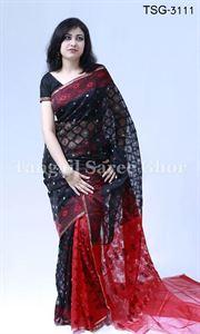 Picture of Moslin Jamdani Saree - TSG-3111