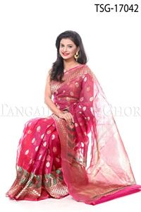 Picture of Tisue Buty Katan Saree - TSG - 17042