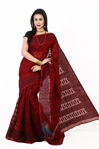 Picture of Cotton Jamdani Saree - MJS-501