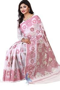 Picture of Cotton Jamdani Saree - MJS-505