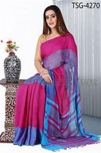 Picture of Soft Cotton Saree - TSG-4270