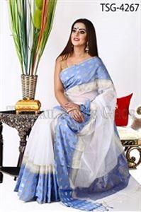 Picture of Silk & Cotton Mixed Saree - TSG-4267
