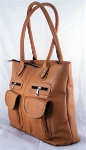 Picture of Leather Hand bag-LHB 118 Brown