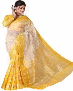 Picture of Moslin Jamdani Saree - TSG-7654