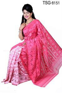 Picture of Moslin Silk Saree - TSG-8151