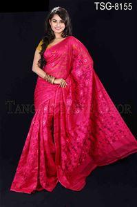 Picture of Moslin Silk Saree - TSG-8155