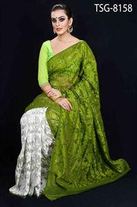 Picture of Moslin Silk Saree - TSG-8158