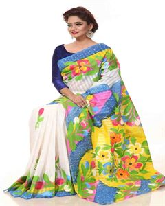 Picture of Half Silk Kuta Saree- TSG-1002