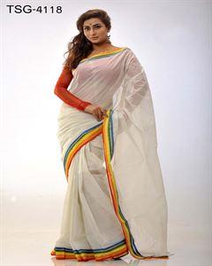Picture of Pure cotton saree - TSG-4118