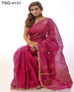 Picture of Pure cotton saree - TSG-4137