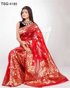 Picture of Half Silk Saree - TSG-4185