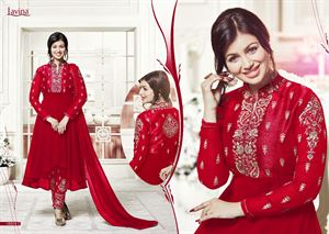 Picture of BEAUTIFUL STYLISH GEORGETTE WITH EMBROIDERY WORK salwar kameez suit  ayesha 012