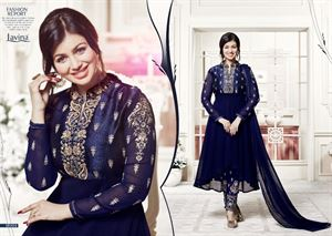 Picture of BEAUTIFUL STYLISH GEORGETTE WITH EMBROIDERY WORK salwar kameez suit  ayesha 013