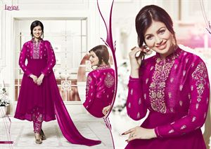 Picture of BEAUTIFUL STYLISH GEORGETTE WITH EMBROIDERY WORK salwar kameez suit  ayesha 014
