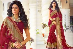 Picture of Georgette and embroidery work saree ssc-730