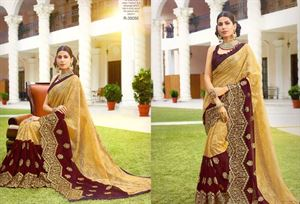 Picture of Georgette and embroidery work saree ssc-732