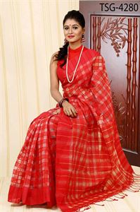 Picture of  Half Silk Kuta Saree - TSG-4280