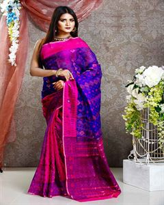 Picture of  Moslin Jamdani Saree -TSG-9295