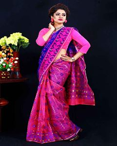 Picture of  Moslin Jamdani Saree -TSG-9318