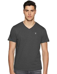 Picture of Woodland V-Neck T-Shirt LWTSV001A (DGREY)